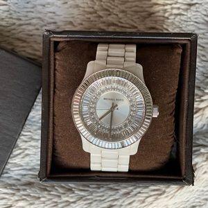 Michale Kors Ceramic Baguette Watch